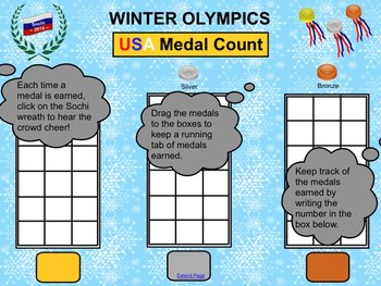 """""""Winter Olympics Medal Count"""" SMART Board Activity"""