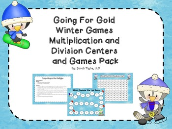 Winter Olympics Multiplication and Division Games and Cent