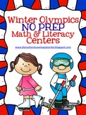 Winter Olympics No Prep Math and Literacy Centers