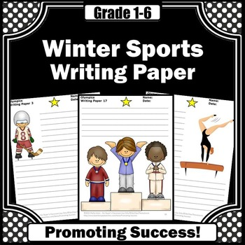 Winter Olympics Sports Writing Paper
