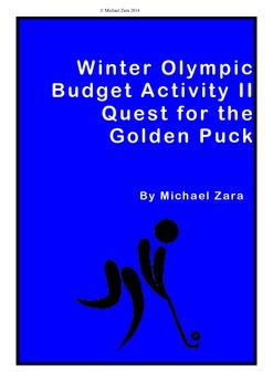 Winter Olympics math budget activity II: Quest for the Gol