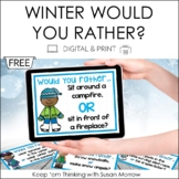 Winter Opinion Writing - Would You Rather? FREE