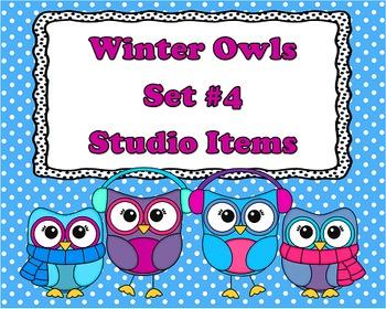 Winter Owl Set 4 - Studio Items