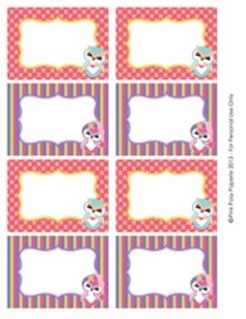 Winter Owls Classroom Decor Bin Tag Labels
