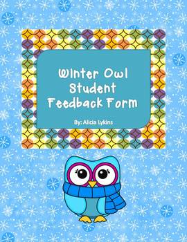 Winter Owls Theme Evaluate Your Teacher