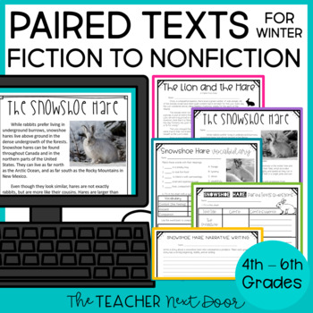 Winter Paired Texts for 4th - 6th Grade