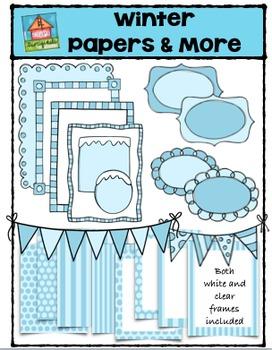 Winter Papers & More  (P4 Clips Trioriginals Digital Clip Art)