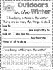 Winter Paragraph Frames