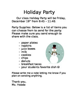 Winter Party *EDITABLE*