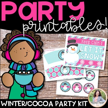 Winter Party Printables {Banners, Toppers, Wrappers, Invit