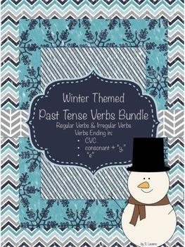 Winter Past Tense Verbs Bundle
