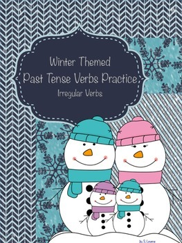 Winter Past Tense Verbs Pack (Irregular Verbs)