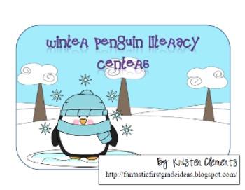 Winter Penguin Literacy Centers