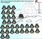 Winter Penguin Themed Attendance For SmartBoard