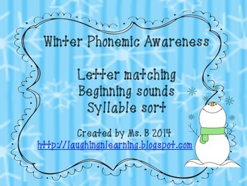 Winter Phonemic Awareness