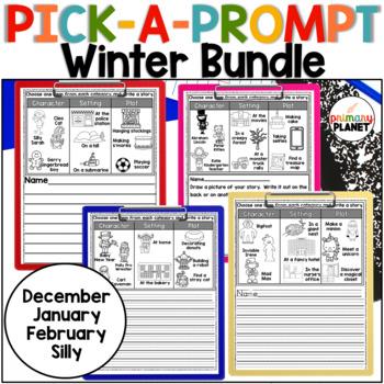 Winter Writing Prompt BUNDLE Writer's Workshop, Centers, R