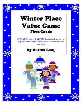 Winter Place Value Game- 4 in a Row