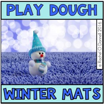 Winter Play Dough Mats Freebie