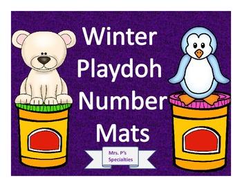 Winter Playdoh mats: Numbers 1 to 20 & Winter Vocab