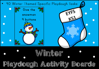 Winter Play Dough Activity Boards