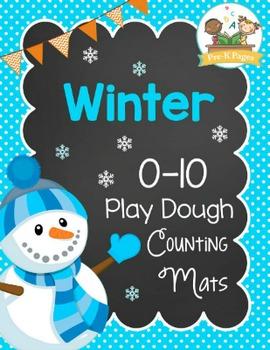 Winter Playdough Counting Mats