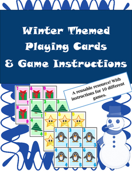 Winter Game Cards for Math - Multiple Uses! Bonus Game Ins