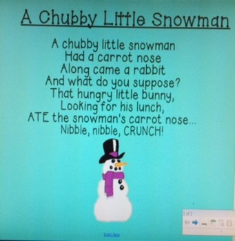 Winter Poem - Chubby Little Snowman