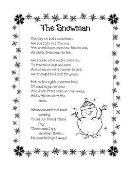 Winter Poem: The Snowman
