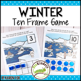 Winter Polar Animals Ten Frame Game | Pre-K + K Math