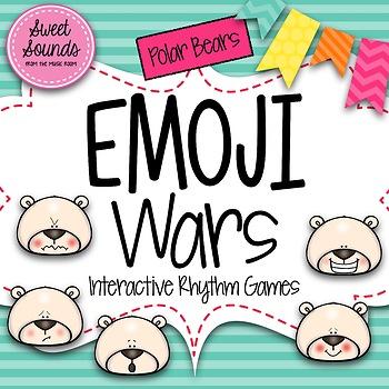 Winter Polar Bears Emoji Wars Syncopation {Interactive Rhy