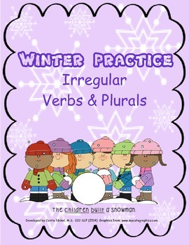 Winter Practice with Irregular Plurals and Verbs