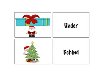 Winter Preposition Cards