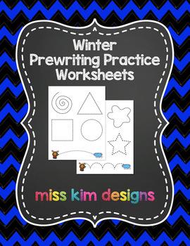 Winter Prewriting Worksheets