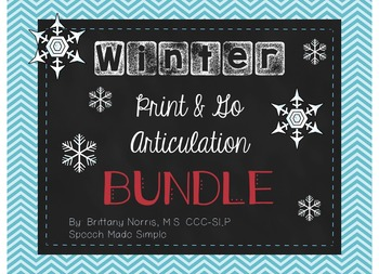 Winter Print and Go Articulation Pack Bundle