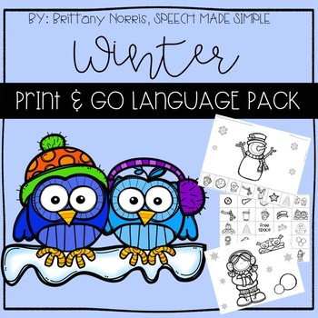 Winter Print and Go Language Pack