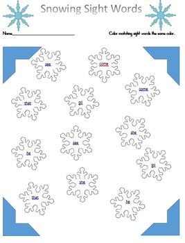 Winter Printable Bundle, Emergent Readers, math center, ma