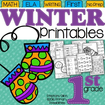 Winter Printables for First Grade {Ready, Set, Print!}