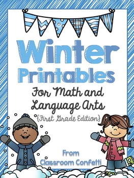 Winter Printables for Math and Language Arts {First Grade