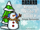 Winter - Read, Write, Build {Simple Sentences}