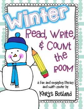 Winter Read, Write, and Count the Room {Literacy and Math