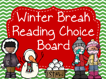Winter Reading Choice Board