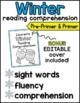 Winter Reading Comprehension for Kindergarten