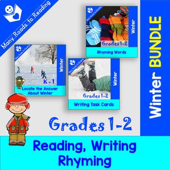 Winter Reading, Writing, Rhyming BUNDLE