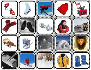 """Winter Reality"" Picture Squares for Autism"