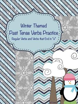 Winter Past Tense Verbs Pack (Regular Verbs/Verbs that End