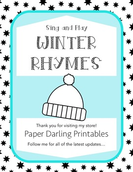 Winter Rhymes and Songs for Circle Time, Morning Meeting a