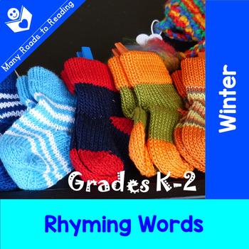 Winter Rhyming Words: Grades K-2
