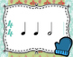 Winter Rhythm Flashcards - Half Notes and Half Rests