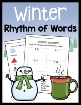 K-2 Winter Rhythm of Words