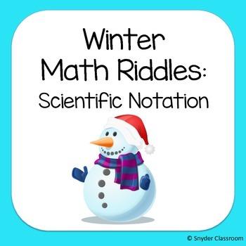 Winter Scientific Notation Math Riddles